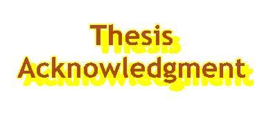 Acknowledgement for thesis doc
